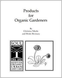Products for Organic Gardeners